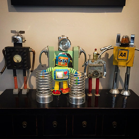 Studio robots had a new friend today...