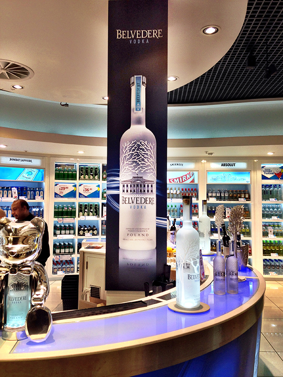 My Belvedere imagery at Heathrow Airport