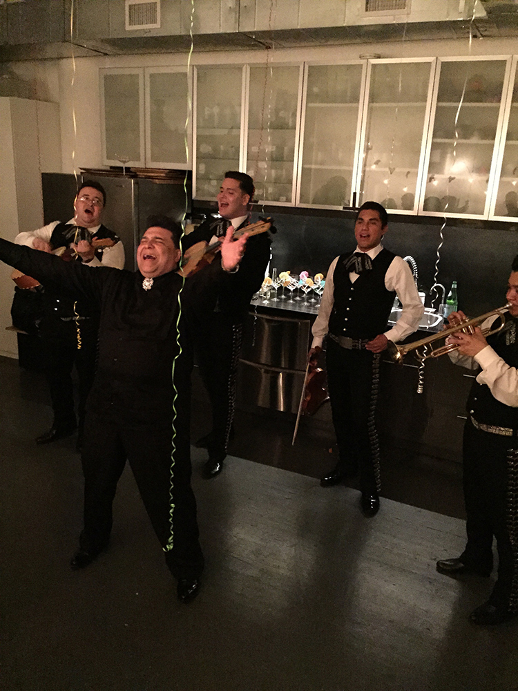 Mariachi band rocking the studio...