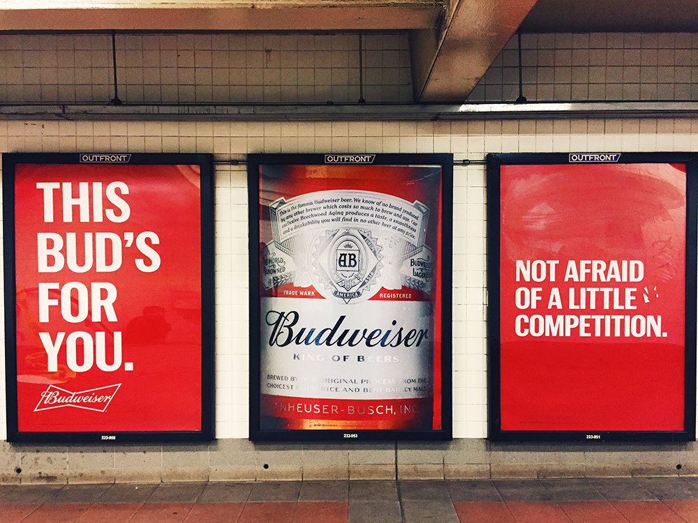 M'Budweiser shots out and about...