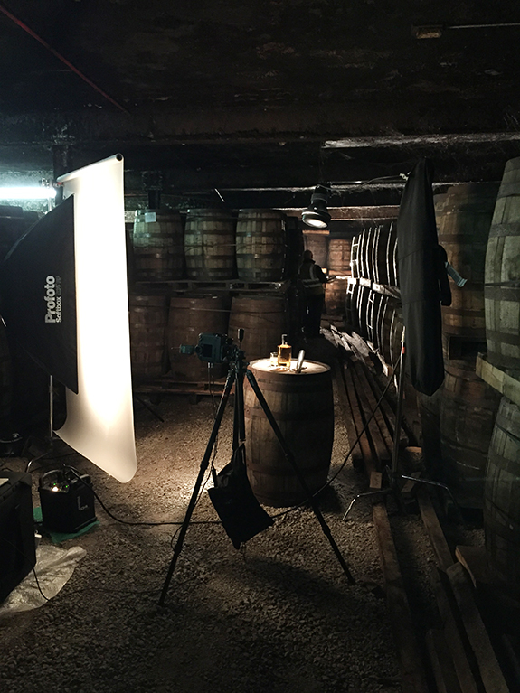 Having fun in the world's oldest whiskey distillery...